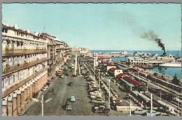 CPSM Algérie - Alger - La Gare Maritime, Celle Des CFA Et Le Boulevard De La République - Alger