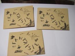 Cartes Triple E.N.F. BLOIS Agrémenté De Dessin Signature A Retrouver    TBE - Vieux Papiers