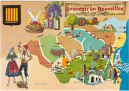 F66-087 SOUVENIR DU ROUSSILLON - CARTE TOURISTIQUE - Non Classés