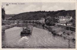 Auvelais La Sambre Avec Une Péniche Circulée En 1959 - Sambreville