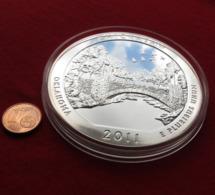 USA Quarter Dollar $ 2011 Oklahoma Chickasaw 5 Ounce Fine Silver 999 - Stati Uniti