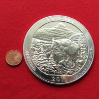 USA Quarter Dollar $ 2011 Montana Glacier Mountain Goat 5 Ounce Fine Silver 999 - Stati Uniti