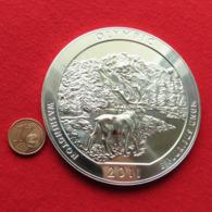 USA Quarter Dollar $ 2011 Washington Olympic Moose 5 Ounce Fine Silver 999 - Stati Uniti