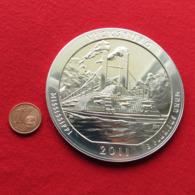USA Quarter Dollar $ 2011 Mississippi Vicksburg Steamboat Military Ship 5 Ounce Fine Silver 999 - Stati Uniti