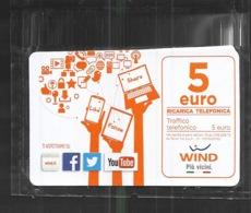 Italia Ricarica Telefonica 5 Euro Wind Valid Until  31 12 2021 - Italia
