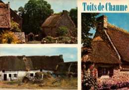 Dep 22 , Cpm 549 , Vieilles Chaumières à Toit De Chaume , Multivues (10830) - Andere Gemeenten