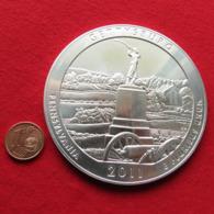 USA Quarter Dollar $ 2011 Pennsylvania Gettysburg Monument 2nd Brigade 5 Ounce Fine Silver 999 - Stati Uniti