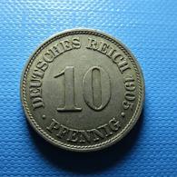 Germany 10 Pfennig 1905 A - [ 2] 1871-1918 : Imperio Alemán