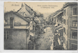 SUISSE . BÂLE . ALT-BASEL . Birsig Zwischen Barlüsserplatz ü Rüdengasse 1886 , édit : Koehler'sche   , état Extra - BS Basel-Stadt