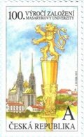 1018 Czech Republic Masaryk University Anniversary Brno Brünn 2019 Heraldic Lion - Kirchen U. Kathedralen