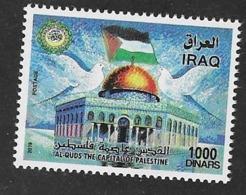 IRAQ, 2019, MNH,  AL QUDS, CAPITAL OF PLAESTINE,  DOVES,1v - Mosquées & Synagogues
