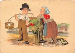 CPM - Les Petits Métiers - La Petite Verdurière - De Kleine Groentenverkoopster - Street Merchants