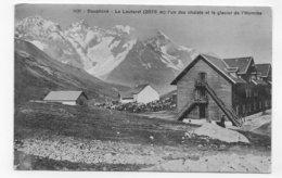 (RECTO / VERSO) LE LAUTARET EN 1908 - L' UN DES CHLETS ET LE GLACIER DE L' HOMME - BEAU CACHET - CPA - Otros Municipios