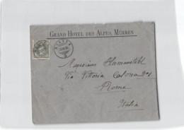 AG1949  HELVETIA GRAND HOTEL DES ALPES MURREN  TO ROMA - 1882-1906 Stemmi, Helvetia Verticalmente & UPU