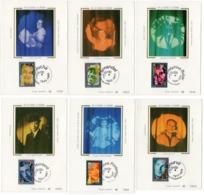 Carte Maximum 1994 - Yvonne Printemps ,Yves Montand,  Fernandel, Coluche, Bourvil, Joséphine Baker ...YT 2897 à 2902 - 1990-99