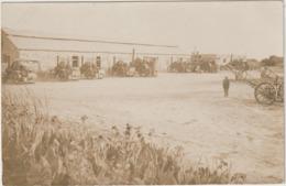 CPA  CARTE PHOTO  LES TRACTEURS A VAPEUR VENANT AU LA BOURAGE   AU SOUDAN - Tracteurs