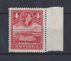 "ANTIGUA.....QUEEN ELIZABETH II.(1952-NOW)....."" 1953 ""....SG124......4c.....MARGINAL....MNH.. - 1858-1960 Colonia Británica"