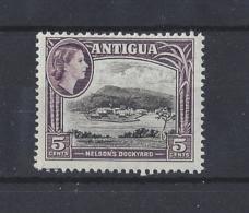 "ANTIGUA.....QUEEN ELIZABETH II.(1952-NOW)....."" 1953 ""....SG125......5c.....MNH. - 1858-1960 Colonia Británica"