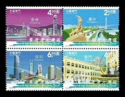 Macao 2019 Mih. 2260/63 Guangdong-Hong Kong-Macao Greater Bay Area. Ship. Automobiles. Bridge MNH ** - 1999-... Chinese Admnistrative Region