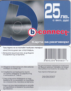 BULGARIA - Lips, B Connect Prepaid Card 25 Leva, Exp.date 28/09/07, Sample - Bulgarie