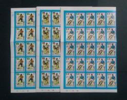 DOMINICA FOOTBALL WORLD CUP 1974 FULL SHEET 1/2c,1c & 2c LOOK - Fußball-Weltmeisterschaft