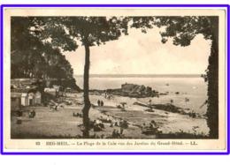 23834  CPA  BEG MEIL : La Plage De La Cale Vue Des Jardins Du Grand Hôtel !! Circulé 1937 !!  ACHAT DIRECT !! - Beg Meil