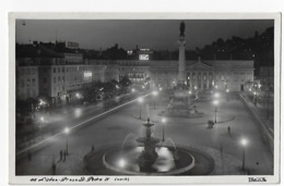 Lisboa - Praça D. Pedro IV (noite) - Lisboa