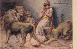 Jewish New Year , Daniel & Lions , 1910 - Judaika