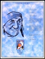 MOTHER TERESA-BIO DATA-2x SOVENIR CARDS- BANGLADESH-2011-GMS-58 - Mutter Teresa