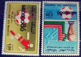 MOROCCO - MNH** - 1986 - # 1005/1006 - Morocco (1956-...)