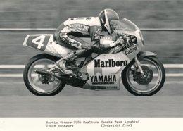 Martin Wimmer 1986 Sur Moto 250 Cc - Marlboro Yamaha Team Agostini - Photo 20 X 15 Cm Env. - Sporten