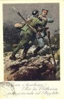 1918- C P A  RECCOMMANDEE ( Fuori I Barbari ! )  Affr. à 47 Cent.  Pour Fermo ( Italie ) - Saint-Marin