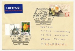 ALLEMAGNE - 8 Enveloppes Avec Oblitérations Diverses Relatives à RICHARD WAGNER - BAYREUTH - Muziek