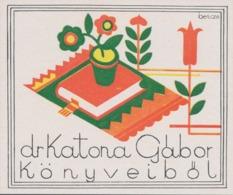 Ex Libris (könyveiből) Katona Gabor - Bencze - Ex-libris