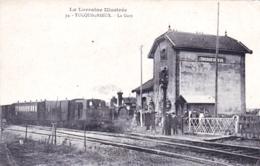 54 - Meurthe Et Moselle - TUCQUENIEUX - La Gare - Train Vapeur En Gare - RARE - Frankrijk