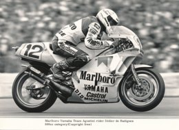 Didier De Radigues Sur Moto 500 Cc - Marlboro Yamaha Team Agostini - Photo 20 X 15 Cm Env. - Deportes