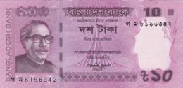 Bangladesh - Billet De 10 Taka - Mujibur Rahman - 2015 - P54e - Bangladesh