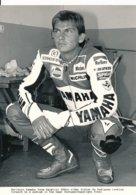 Didier De Radigues Sur Moto 500 Cc - Marlboro Yamaha Team Agostini - Photo 20 X 15 Cm Env. - Sporten
