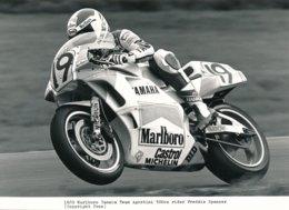 Freddie Spencer Sur Moto 500 Cc 1989 - Marlboro Yamaha Team Agostini - Photo 20 X 15 Cm Env. - Sporten