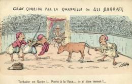 A.F.N  L Chagny GRAN CORRIDA PAR LA QUADRILLA De ALI BAROUFA Toreador En Garde !...Lorte à La Vaca ..in Al Dine Imme. RV - Humour