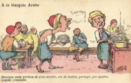 A.F.N  L Chagny A La Gargote Arabe Envoyez Oune Portion Di Gras Double ,vic Di Touvia ,partage Par Quatre Argent Comptan - Humour