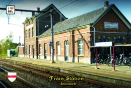 Set 6 Cartes Postales, Transports, Belgium, Schoonaarde, Train Station - Bahnhöfe Ohne Züge