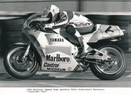 Niall Mac Kenzie Sur Moto 500 Cc 1989 - Marlboro Yamaha Team Agostini - Photo 20 X 15 Cm Env. - Deportes