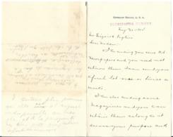 557 USA Consular Service Trebizonde Trabzon Turkey Turquie Letter From Edvard J. Sullivan 1904 - Vieux Papiers