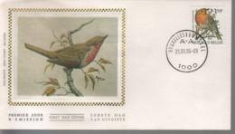 BUZIN / FDC SOIE / COB 2223 - 1985-.. Oiseaux (Buzin)