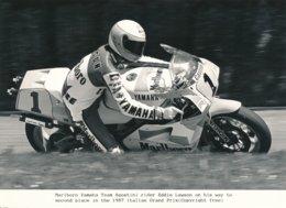 Eddie Lawson 1987 - Marlboro Yamaha Team Agostini 500 Cc - Photo 20 X 15 Cm Env. - Deportes