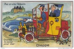 Carte Postale à Système 76. Dieppe Dépliant 10 Vues  Trés Beau Plan - Mechanical