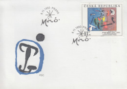 Enveloppe  FDC  1er  Jour     TCHEQUIE    Oeuvre  De   MIRO   1993 - Moderni