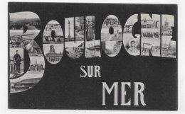 BOULOGNE SUR MER - SOUVENIR - MULTIVUES - CASSURE ANGLE HAUT A GAUCHE - CPA NON VOYAGEE - Boulogne Sur Mer
