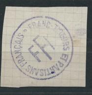 3199 - Cachet Sur Fragment - FFI Résistance Franc Tireur Et Partisans Français WW2 - 1939-45